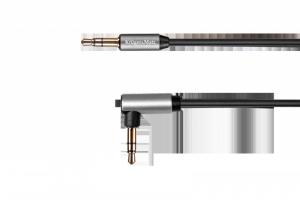 Kabel jack 3.5 kątowy - jack 3.5 prosty sprężynka 1.8m Kruger&Matz Basic