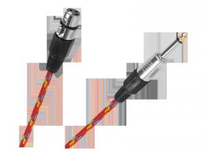 Kabel mikrofonowy gniazdo CANON-wtyk JACK 6.3mm  5m
