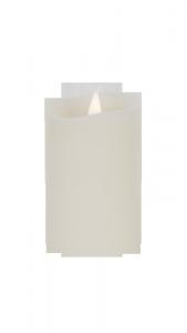 Świeca woskowa LED mała  ivory