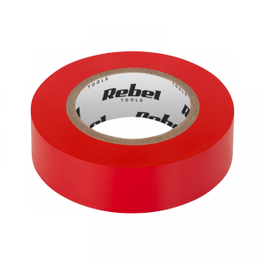 Taśma izolacyjna klejąca REBEL (0,13 mm x 19 mm x 20 yd) czerwona