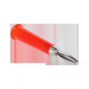 Wtyk bananowy prosty plastikowy czerwony Cabletech