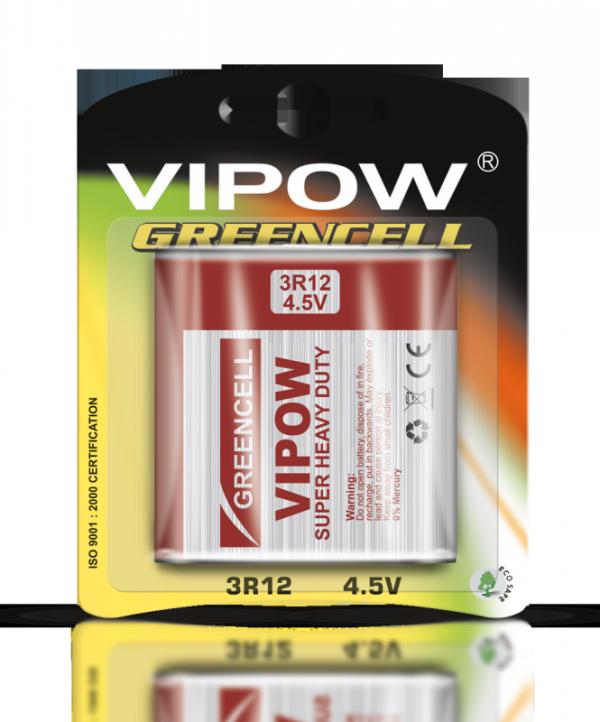 Baterie VIPOW GREENCELL 3R12 1szt/bl.