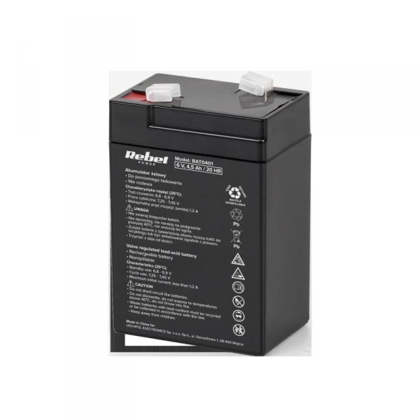 Akumulator żelowy Rebel 6V 4.5Ah