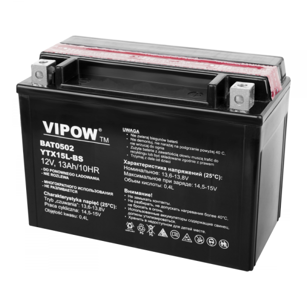 Akumulator VIPOW typ MC do motocykli 12V 13Ah