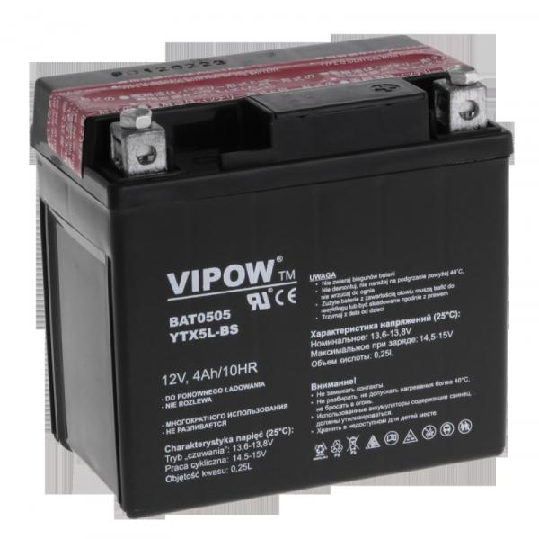 Akumulator VIPOW typ MC do motocykli 12V 4Ah