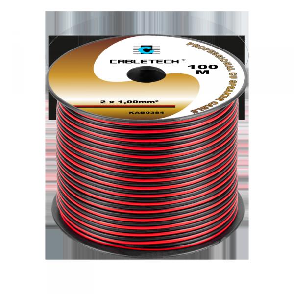Kabel głośnikowy 1,0mm czarno-czerwony