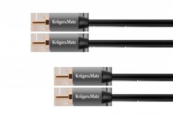 Kabel 2RCA-2RCA 1.0m Kruger&Matz