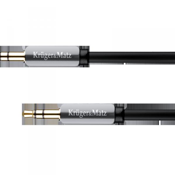 Kabel wtyk   - gniazdo proste  jack 3.5  stereo 1.0m Kruger&Matz