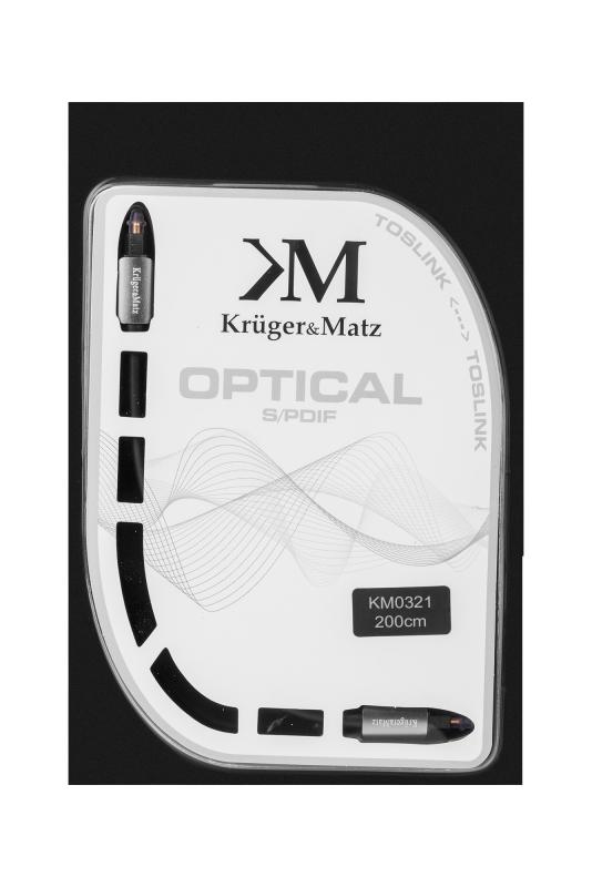 Kabel optyczny toslink-toslink 2.0m Kruger&Matz