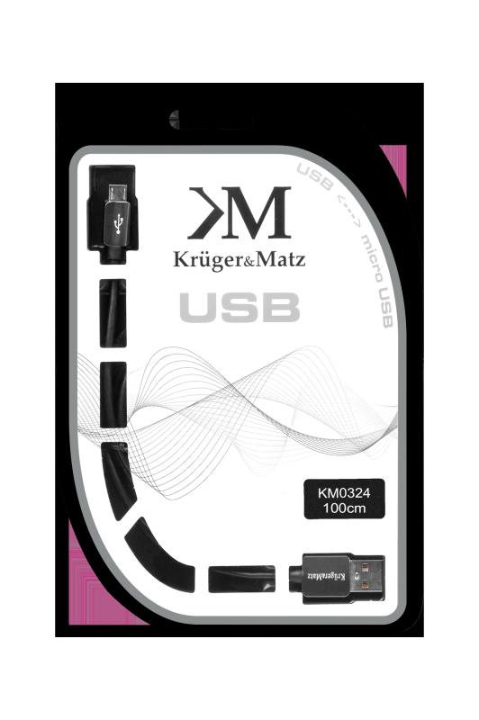 Kabel USB - micro USB wtyk-wtyk 1.0m Kruger&Matz