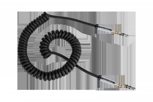 Kabel stereo jack 3.5  wtyk - wtyk  1.5m Kruger&Matz  kabel sprężynka