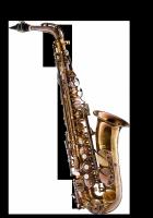 Saksofon altowy Forestone lakierowany, zdobiony, GX cognac vintage wystawowy