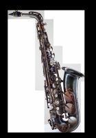 Saksofon altowy Forestone lakierowany, zdobiony, GX vintage wystawowy