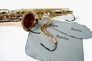 Zestaw wyciorów z mikrofibry do korpusu i fajki saksofonu tenorowego Bambu KL02