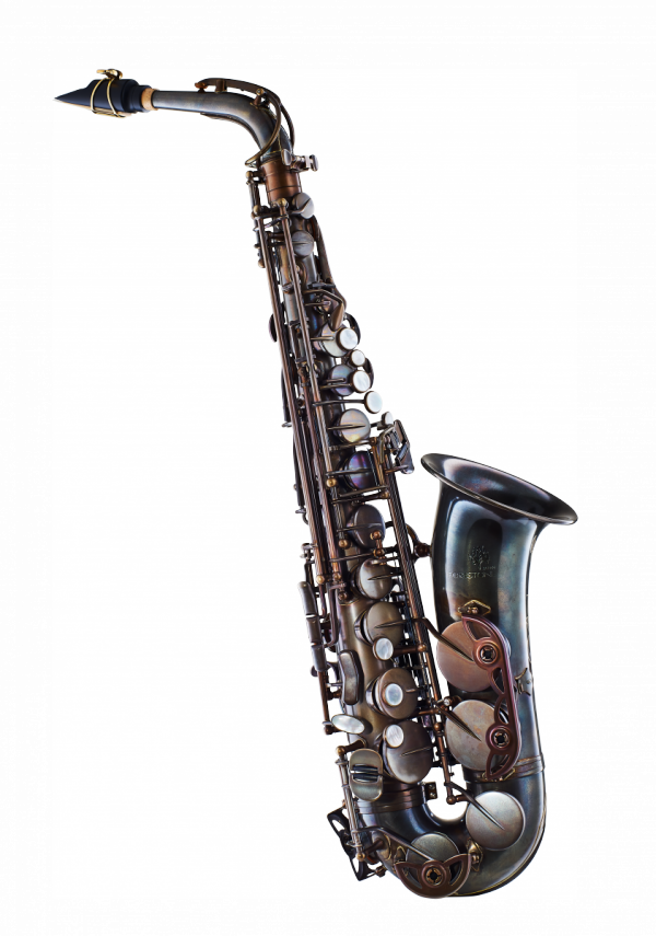 Saksofon altowy Forestone lakierowany, zdobiony, GX vintage