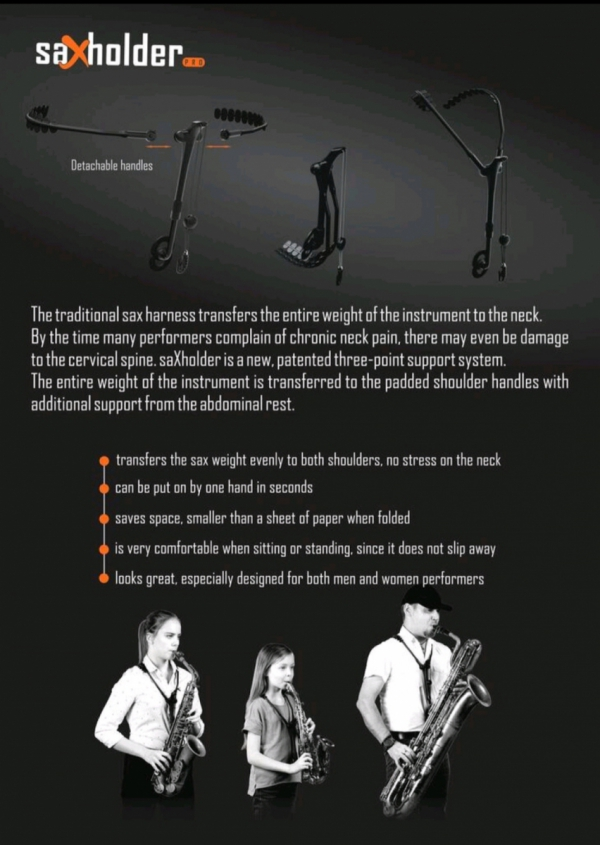 Szelki Jazzlab Sax Holder Pro saksofony