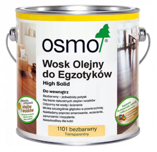 Wosk Olejny do Drewna Egzotycznego 1101 Osmo 2,5 L