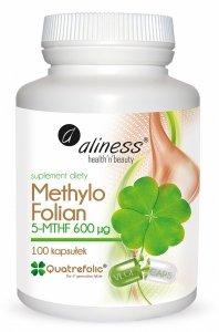 Methylo Folian 5-mthf 600 μg  100 kapsułek VEGE Aliness