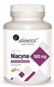 Niacyna, Amid kwasu nikotynowego 500 mg  100 kapsułek VEGE Aliness