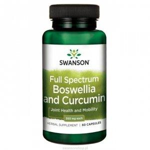 SWANSON FS Boswellia & Curcumin 60 kaps SW1320
