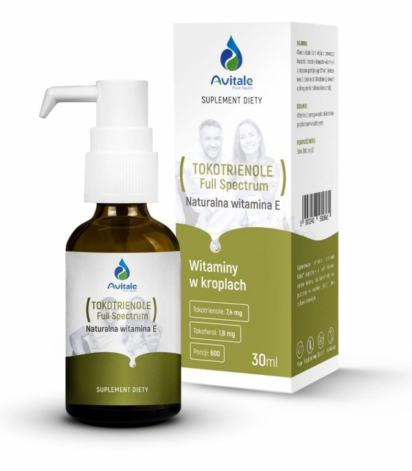 Avitale Tokotrienole Full Spectrum, Naturalna witamina E 30 ml