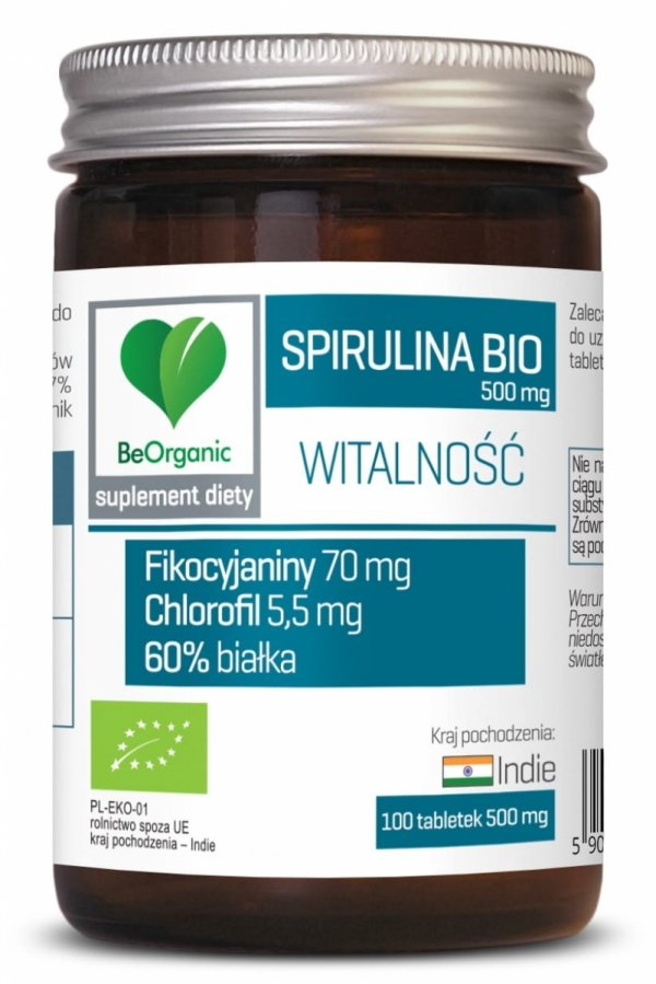 SPIRULINA BIO 500 mg x 100 tabletek