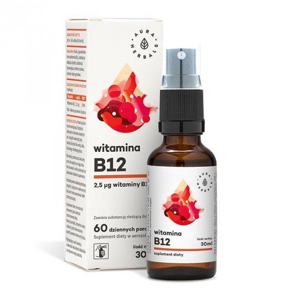 Witamina B12 aerozol 30 ml Aura Herbals