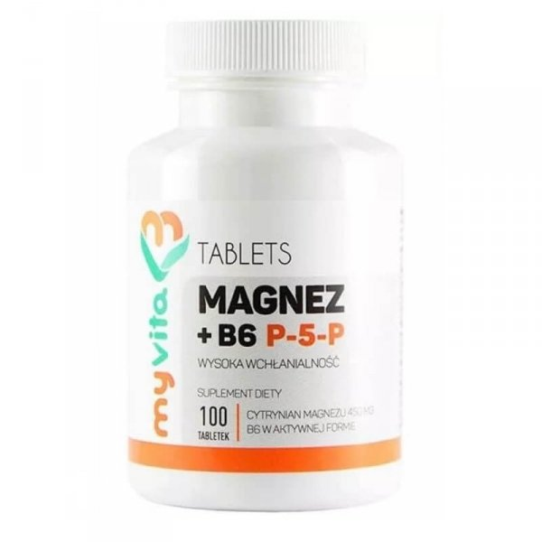 Magnez + B6 P-5-P  100 tabletek MyVita