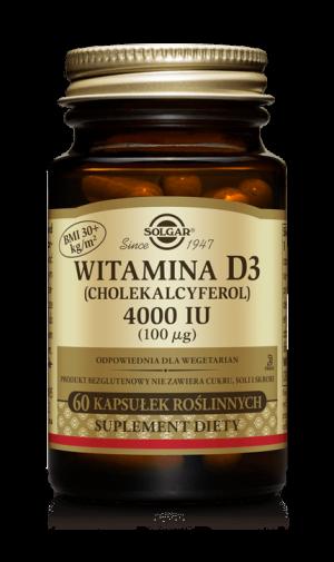 Solgar Witamina D3 4000 IU (100 µg)