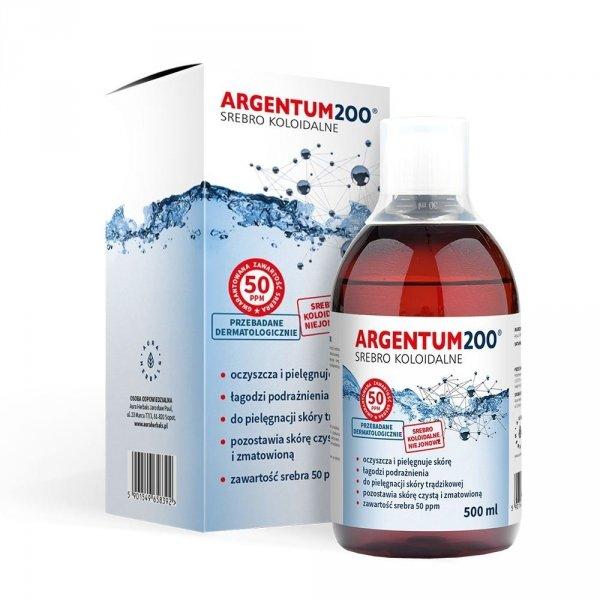 Aura Herbals Argentum200 Srebro koloidalne tonik 500ml