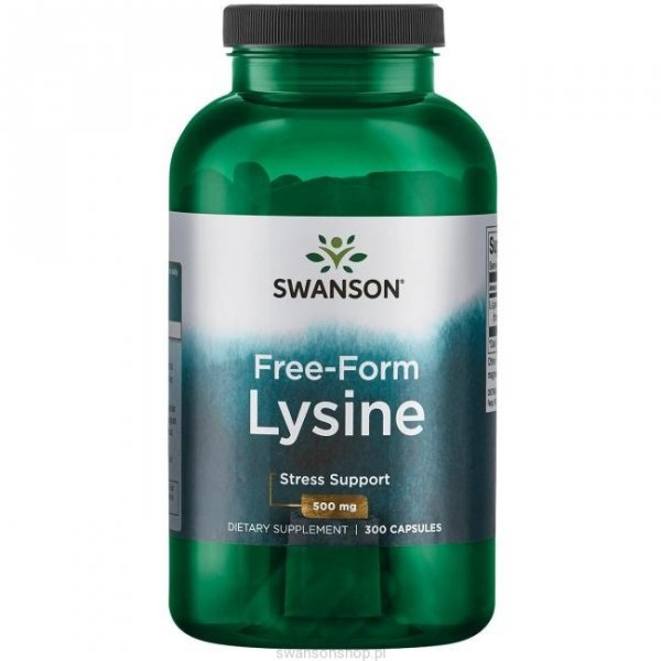 Swanson L-LIzyna 500 mg 300 kaps