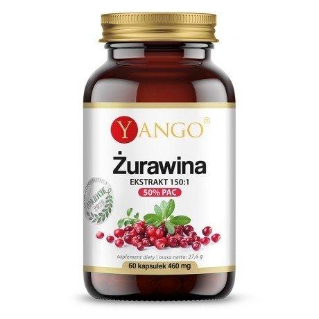 Yango Żurawina 50% PAC - ekstrakt 150:1  60 kaps