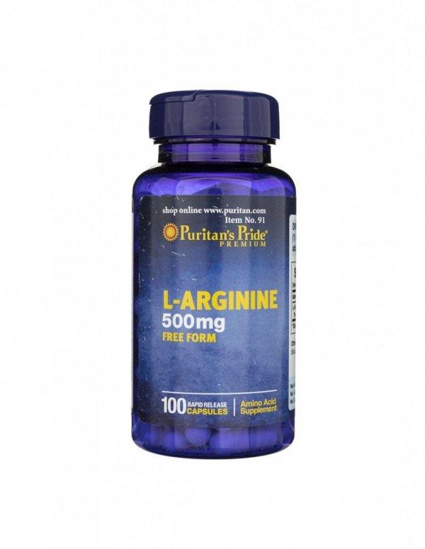 L-Arginine 500mg 100caps Puritan's Pride