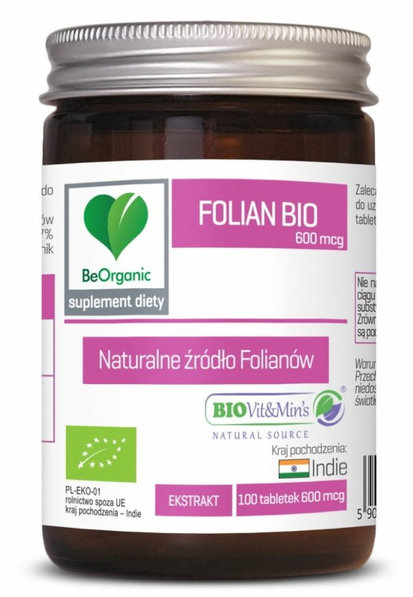FOLIAN BIO 600 mcg x 100 tabletek