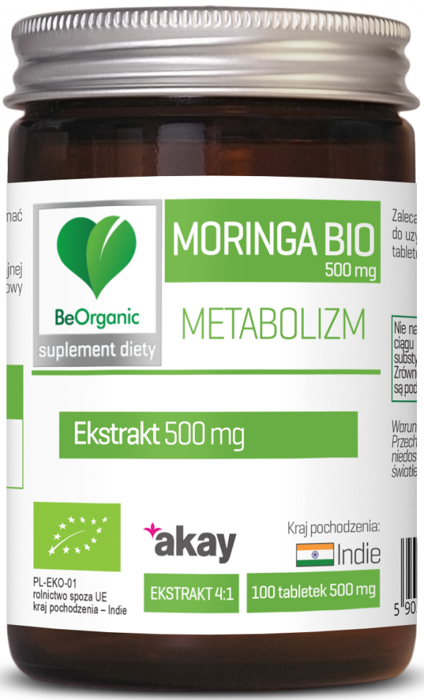Moringa ekstrakt BIO, 500mg x 100 tabletek