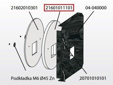 KOSTRZEWA Izolacja drzwiczek przód 30mm Mini Bio 10 kW