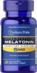 MELATONINA 5 mg - 60 kapsułek sen bezsenność