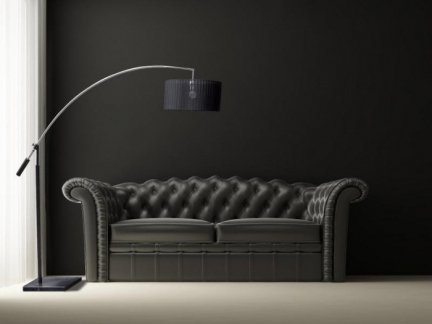 Lampa PODłOGOWA TS 061121F    CHROME/BLACK BIANCA