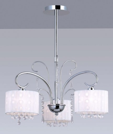 Lampa wisząca, żyrandol Italux Span MDM1583/3 WH