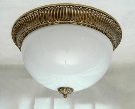 Plafon mosiężny 50cm,lampa sufitowa mosiężna,plafoniera