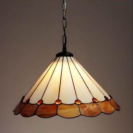 Lampa żyrandol zwis witraż BURSZTYN 40cm