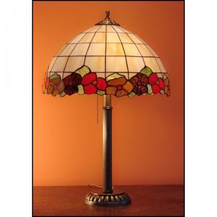lampka witrażowa  BRATKI  średnica 40 cm Anem