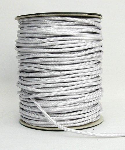 Kabel w oplocie 2x0,75 kolor perła