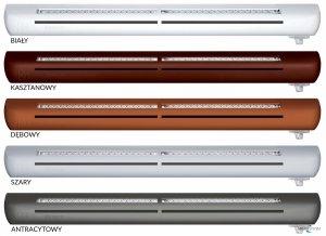 Nawiewnik higrosterowany EXR + podkładka montażowa + okap standardowy - 5 kolorów