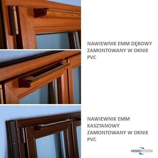 Nawiewnik higrosterowany EMM + okap akustyczny - 3 kolory
