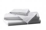 Prześcieradło białe hotelowe NORIS 240x220 100% bawełna