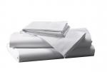 Prześcieradło białe hotelowe NORIS 140x200 100% bawełna