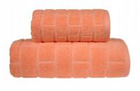 Ręcznik BRICK 50x90 kolor brzoskwioniowy