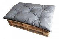 Poduszka ogrodowa na paletę - siedzisko 120x80 wz. Szary - II GATUNEK
