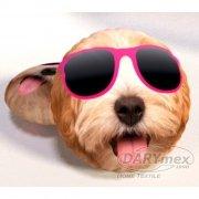 Poduszka emocji - Przytulanka Pies w okularach